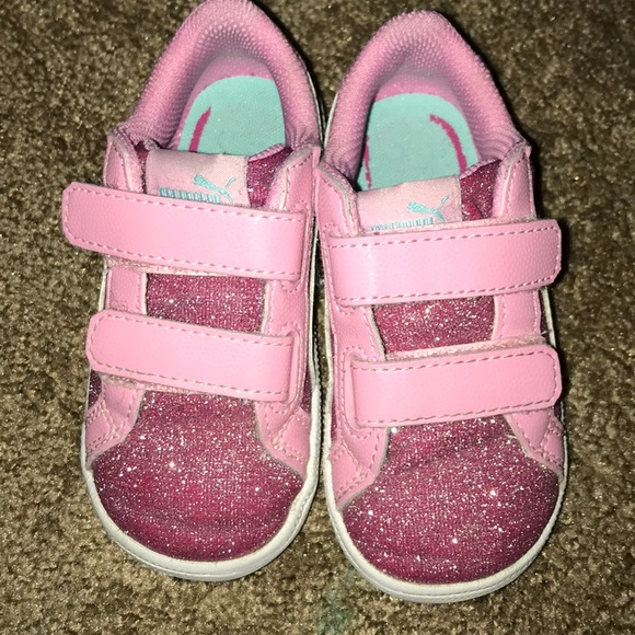 f4437a3fcfa7 Toddler pink glitter pumas. M 5a8ee9f4daa8f6f7b42cfe91. Other Shoes you may  like. Boys puma shoes